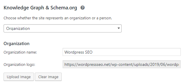 yoast seo organization schema tags