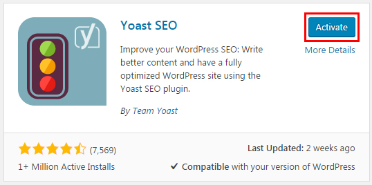 activate plugin wordpress