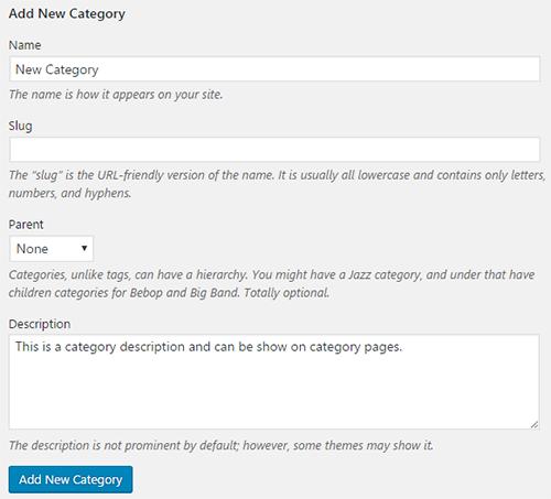 add category description