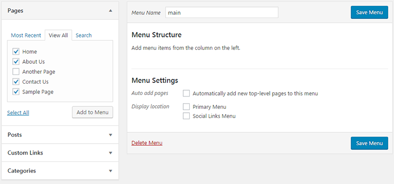 add links to menu wordpress
