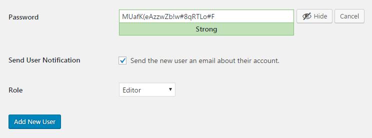 add user wordpress