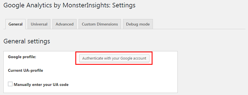 authenticate google