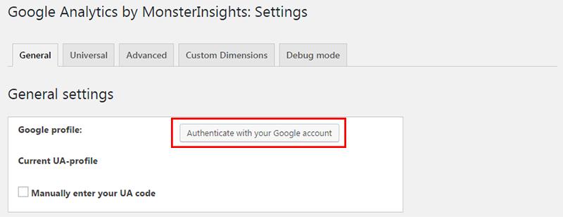authenticate google