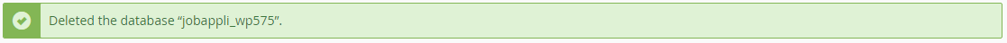 cpanel database delete