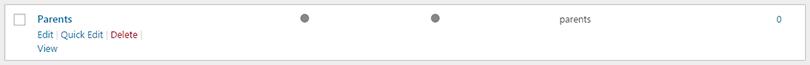 delete category wordpress