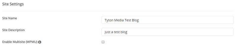 site settings wordpress softaculous