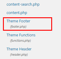 theme footer edit wp