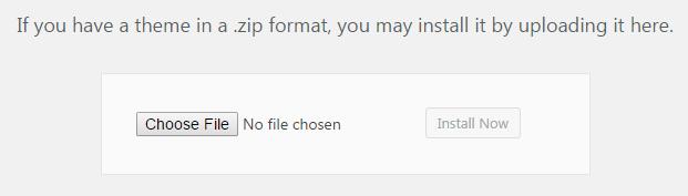 upload zip theme wordpress