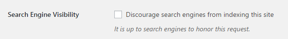 wordpress block search engines