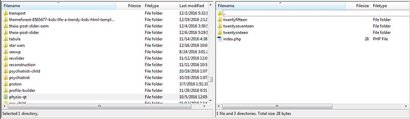 wordpress install theme ftp