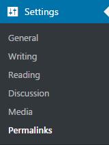 wordpress settings permanlinks