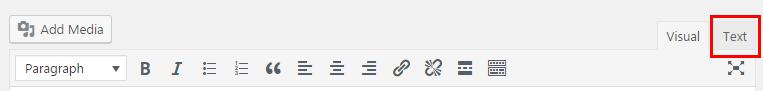 wordpress wysiwig text source