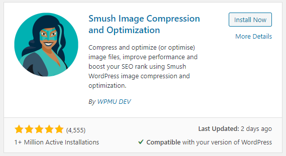 smush image compression wordpress
