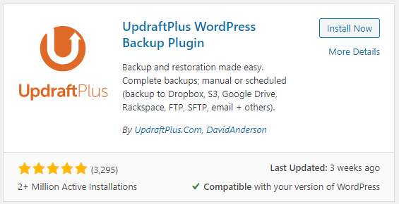updraft plus backup plugin wordpress