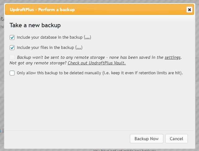 updraft plus plugin for backups