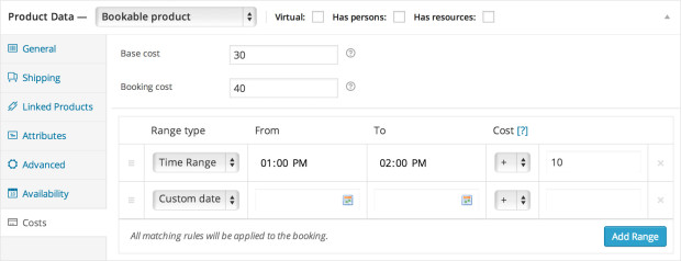 bookings settings