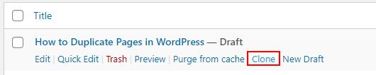 clone post wordpress