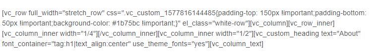 visual composer code
