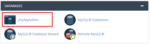 cpanel database manager