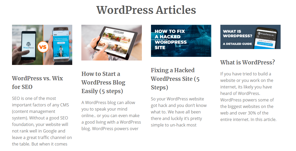 wordpress seo homepage